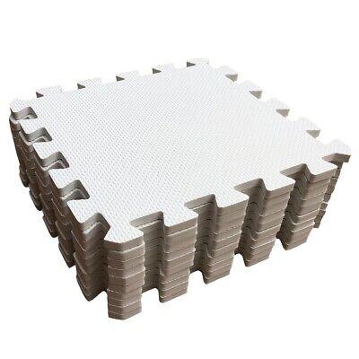 White Interlocking Soft Foam EVA Floor Mats Jigsaw Tiles Kids Babies Playmat 2