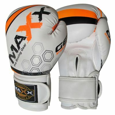 Maxx Boxing Gloves Rex Leather Fight Punch Bag Training MMA Grappling Muay Thai 5