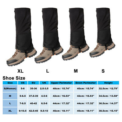 Waterproof Outdoor Climbing Hiking Snow Ski Shoe Leg Cover Boot Legging Gaiters 2