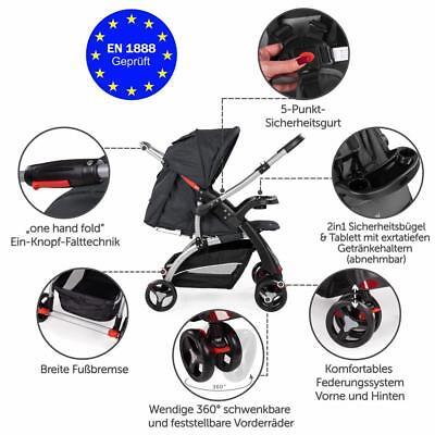 Froggy® Buggy Kinderwagen Sportwagen Kinder Wagen Shopper Jogger Kinderbuggy 6
