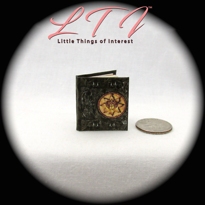 BOOK OF THE DEAD Illustrated Miniature Book Dollhouse 1:12 Scale Black Egyptian 2