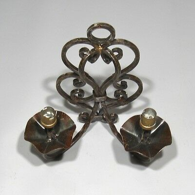 Vintage French Wrought Iron Sconce, 1920's French Riviera, Hand Forged 4