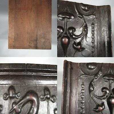 Antique French Hand Carved Wooden Panel, Pelican, Birds & Dolphins 7