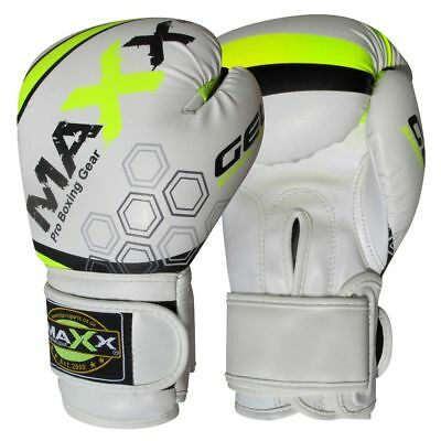 Maxx Boxing Gloves Rex Leather Fight Punch Bag Training MMA Grappling Muay Thai 4