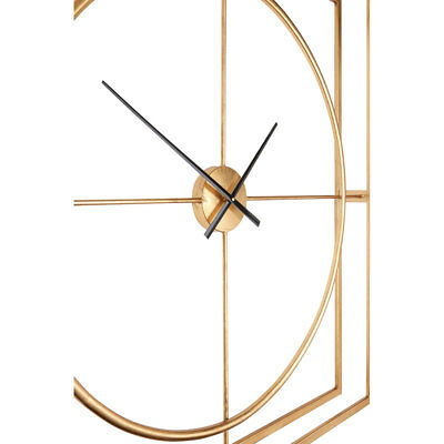 Trinity Metal Wall Clock Gold Metal Square Home Décor Modern Style 3