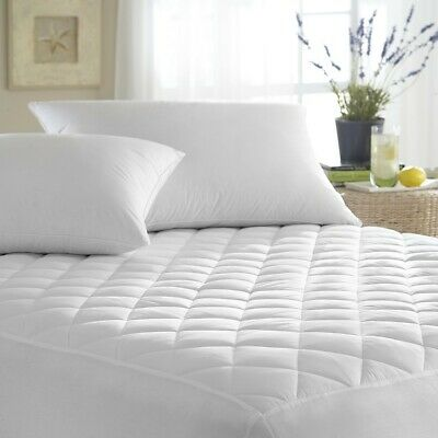Extra Deep Quilted Mattress Bed Protector Topper Fitted Cover Double King Size 9