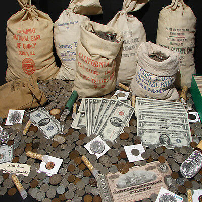 ☆Estate Sale Old Us Coins Lot  ☆ Gold Silver Bullion☆ Currency☆ 50 Years Old+ 2