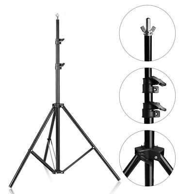6Ft Adjustable Background Support Stand Photo Backdrop Crossbar Kit Photography