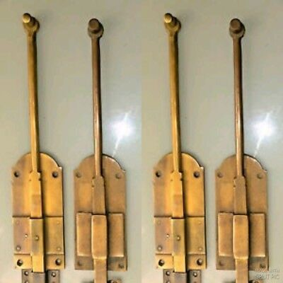 """4 flush BOLT french old age style doors furniture heavy brass slide 11"""" bolts B 3"""