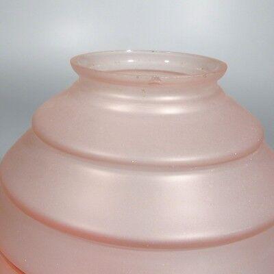 Vintage French Art DecoCeiling FixtureChandelier Pink Glass Globe Shade 9