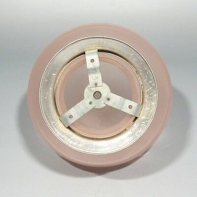 Vintage French Art DecoCeiling FixtureChandelier Pink Glass Globe Shade 4