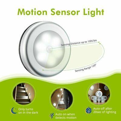 LED Toilet Bathroom Night Light PIR Motion Activated Sensor 6 Led Cool White 5