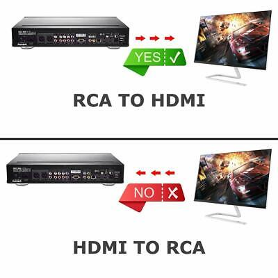 RCA to HDMI Converter Composite AV CVBS Video Adapter 720p 1080p Wii NES SNES 2