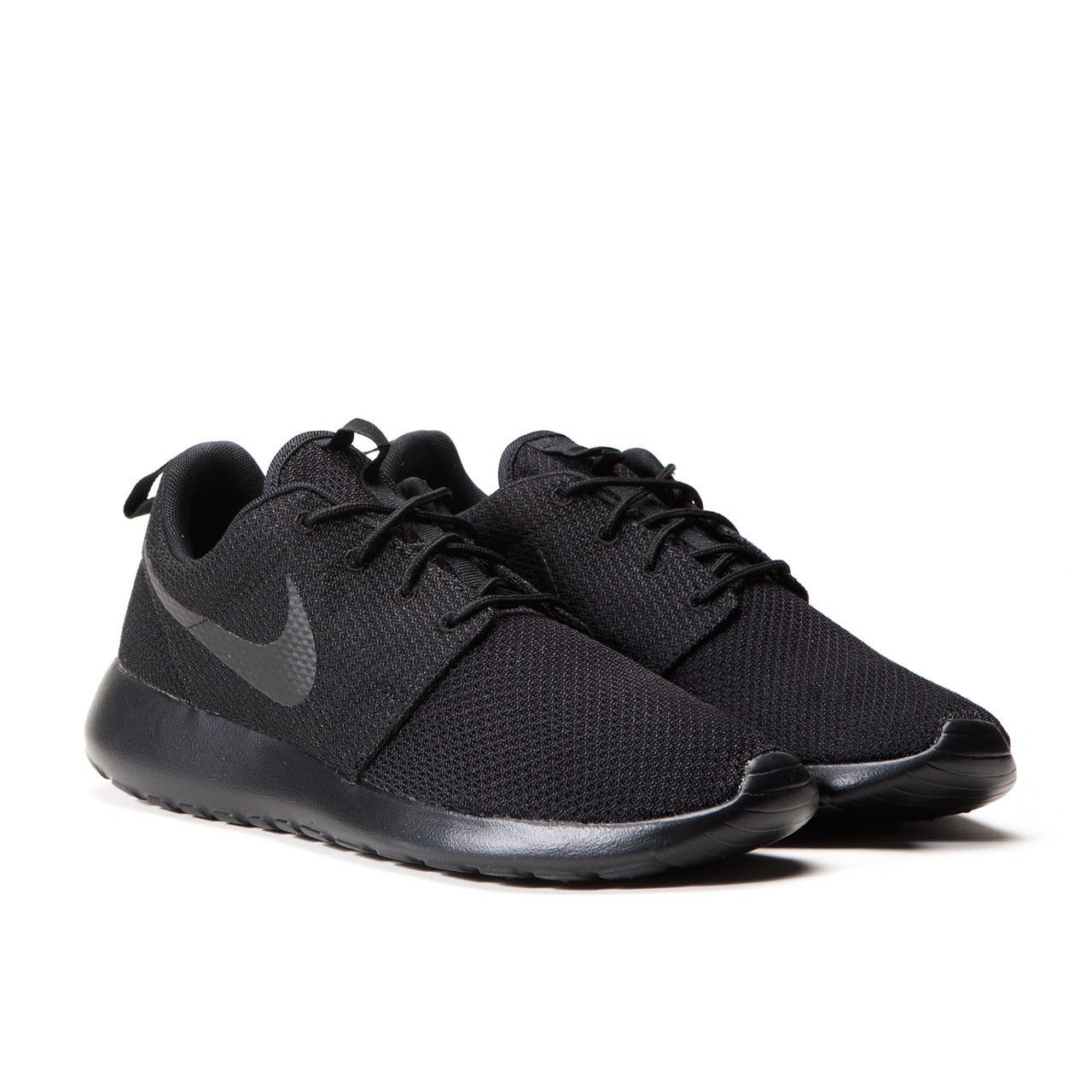 super popular de9be ed3eb WOMEN'S NIKE ROSHE RUN ONE Athletic Shoes ALL BLACK 511882-011