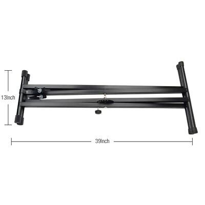 Adjustable Metal Music Keyboard Electronic Piano Dual Tube X Stand Standard Rack 6