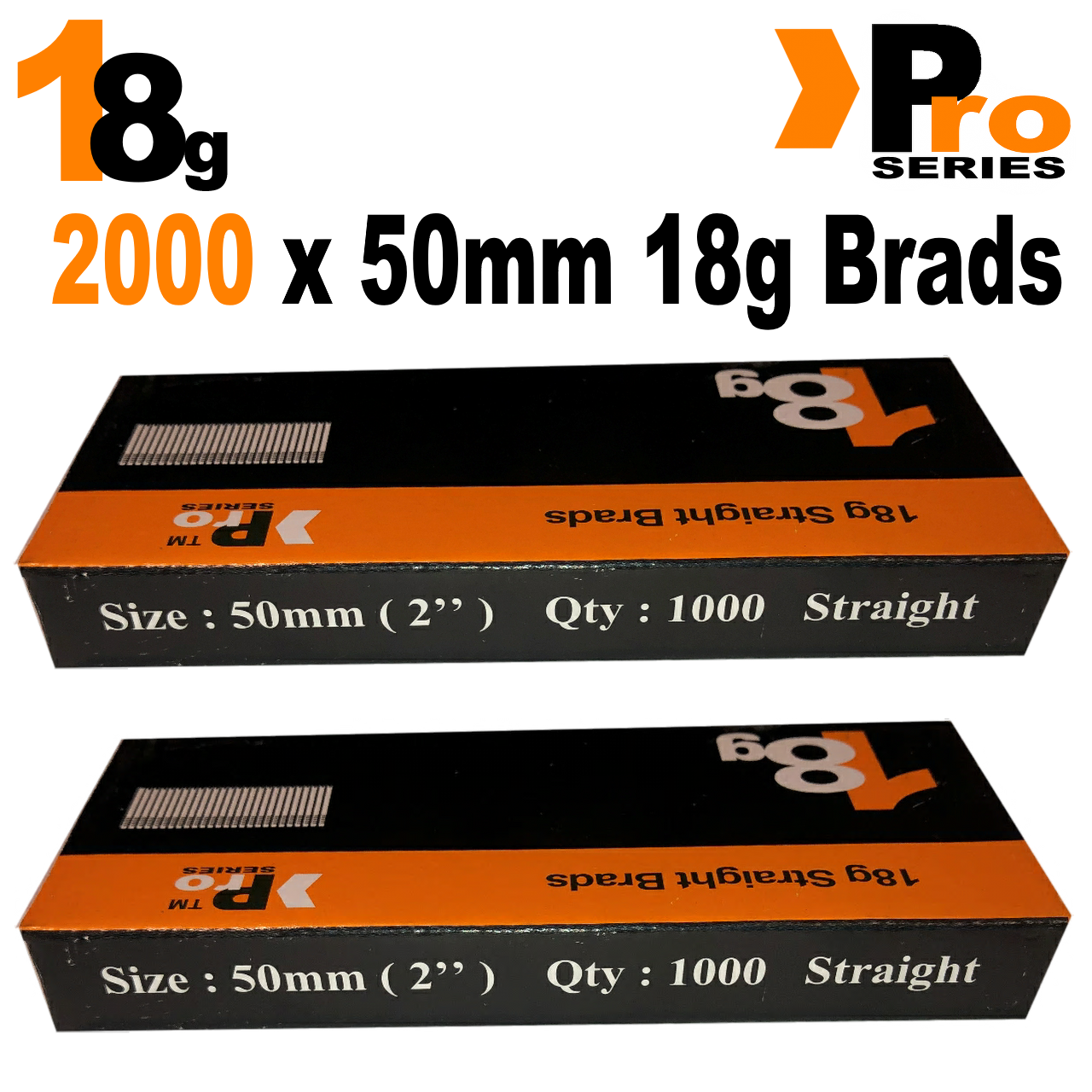 18 Gauge Brads: Sizes available 15mm - 50mm Brads ( 2 x 1000 Brad Handy Pack ) 8