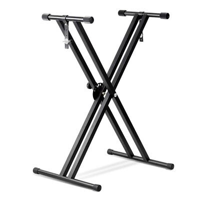 Adjustable Metal Music Keyboard Electronic Piano Dual Tube X Stand Standard Rack 2