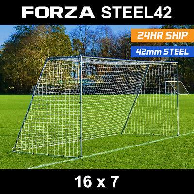 FORZA Football Goals - Locking, Match, Steel & Aluminium Goal [Net World Sports] 4