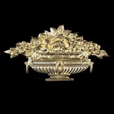 Antique French Gilded Bronze Furniture Decoration Set, Roses, Stamped, 5 pcs 3