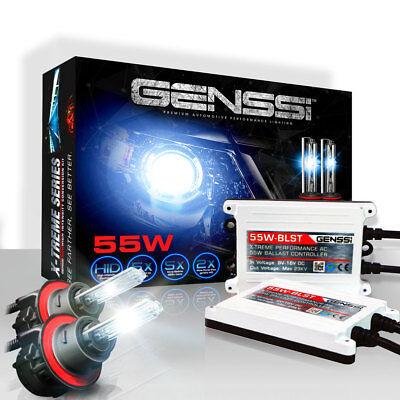 GENSSI AC 55W HID Kit H4 H7 H11 H13 9003 9005 9006 9007 6000K Hi-Lo Bi-Xenon 11