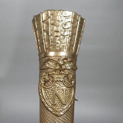 Large Vintage FrenchEmpire Bronze Sconces, Napoleon, Quiver,Eagle, Lion & Swan 6