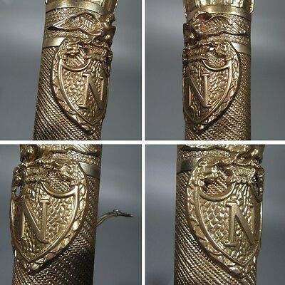 Large Vintage French Empire Bronze Sconces, Napoleon, Quiver, Eagle, Lion & Swan