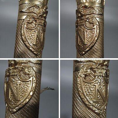 Large Vintage FrenchEmpire Bronze Sconces, Napoleon, Quiver,Eagle, Lion & Swan 10