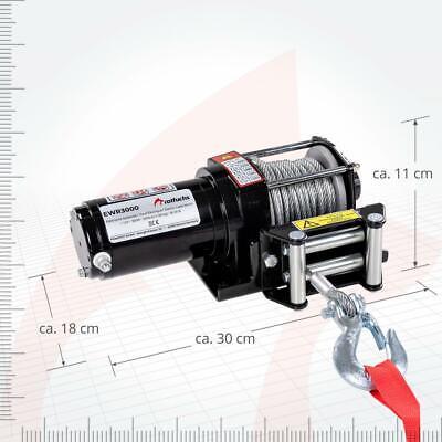 ROTFUCHS® Elektrische Seilwinde 12V 1360KG Elektrowinde Motorwinde Offroadwinde 12