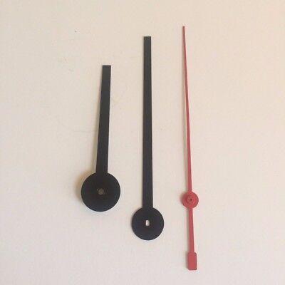 Set of 3 Synchron Red Second Hands 1960s Howard Miller Martz Electric Clock 6