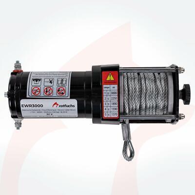 ROTFUCHS® Elektrische Seilwinde 12V 1360KG Elektrowinde Motorwinde Offroadwinde 9