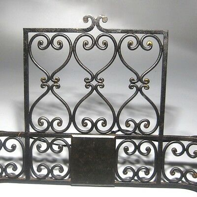 "Large Vintage French Wrought Iron Sconce, ""Chateau"" Style, 19 x 13 inches 7"