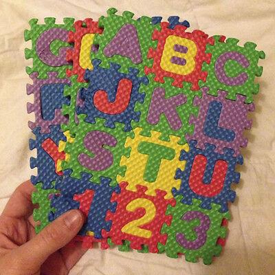 Tappetino Per Bambini in Schiuma Bubble alfanumerico 36 Numeri Lettere Bambini# 5