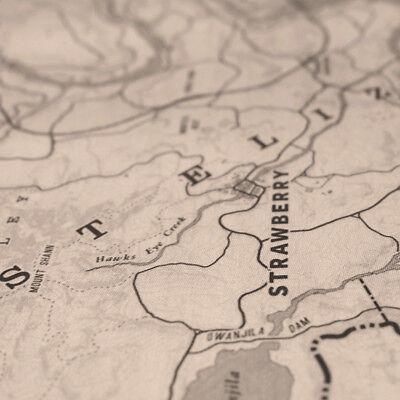 Saint Denis Map Poster Blackwater Map Print 80x100cm For Red Dead Redemption 2 5