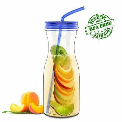 33OZ Big Tritan Water Bottle With Straw BPA Free Cold/Warm Drink ( 7 colors ) 8