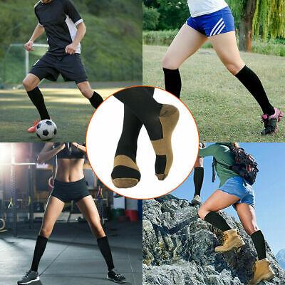 6 Pairs Copper Fit Energy Knee High Compression Socks, SM L/XL XXL Free Ship USA 9