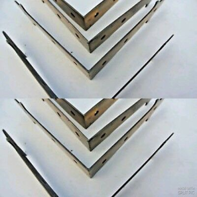 8 large corners strap solid Brass antiques vintage style BOX edge tables 150mm B 2