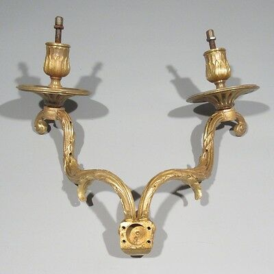 Antique French Gilded Bronze Chandelier Arms, Sconce, Classical Head, Mask 9