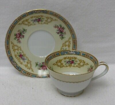 NORITAKE china COLBY BLUE 5032 pttn 7-piece Place Setting w/ Fruit & Soup Bowls 4