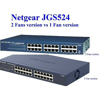 Quiet Version Netgear ProSAFE JGS524PE replacement Fan 18dBA Noise by Sunon