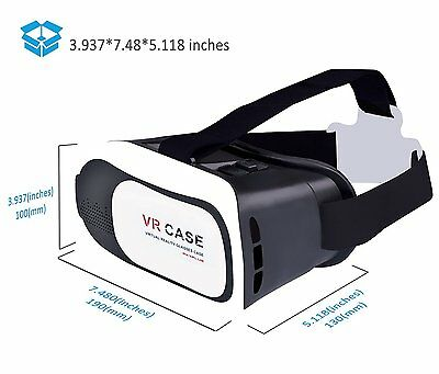 Virtual Reality VR Headset 3D Glasses With Remote for Android IOS iPhone Samsung 7