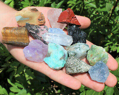 Bulk Crafters Collection 1/2 lb Box Gems Crystals Natural Raw Mineral 250g Rocks 6