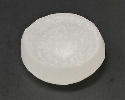 Small White Selenite Bowl (Cleanse, Charge Gemstone, Offering Bowl) 6