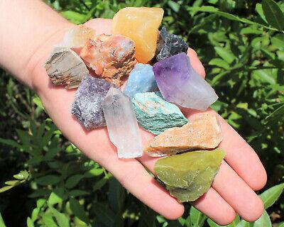 1000 Carat Lot Bulk Mixed Crafters Gems Crystal Natural Rough Raw Mineral Rocks 3