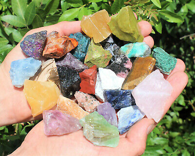 1000 Carat Lot Bulk Mixed Crafters Gems Crystal Natural Rough Raw Mineral Rocks 11