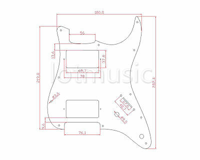 Pickguard Hh 3ply Aged Pearl For Electric Guitar Fender Strat