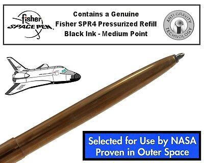 Fisher Space Pen #M4RAW / Raw Brass Cap-O-Matic Ballpoint Pen 9