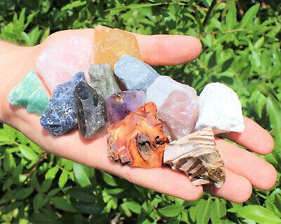 1000 Carat Lot Bulk Mixed Crafters Gems Crystal Natural Rough Raw Mineral Rocks 7