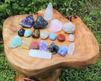 20 pcs Beginners Crystal Kit - Chakra Protection Healing Sets - Crystal Gift 12
