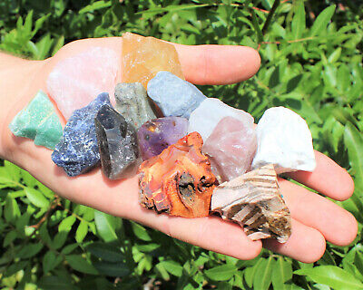 Bulk Crafters Collection 1/2 lb Box Gems Crystals Natural Raw Mineral 250g Rocks 7