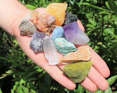 Bulk Crafters Collection 1/2 lb Box Gems Crystals Natural Raw Mineral 250g Rocks 3